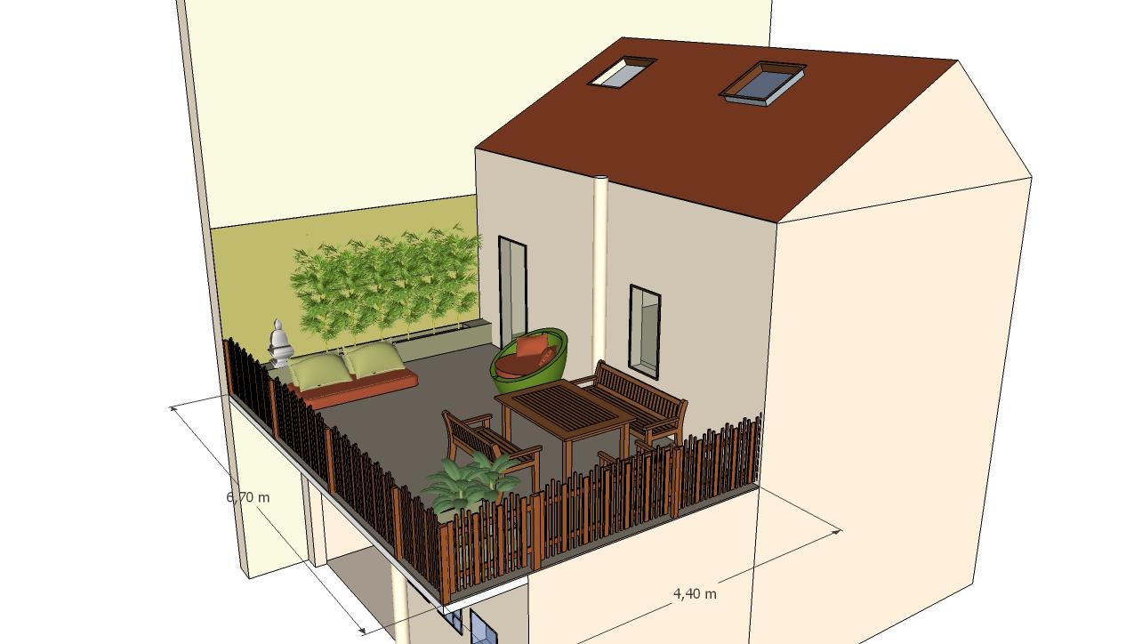 Image 3D création terrasse