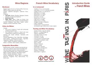 Flyer Wine Tasting in Paris