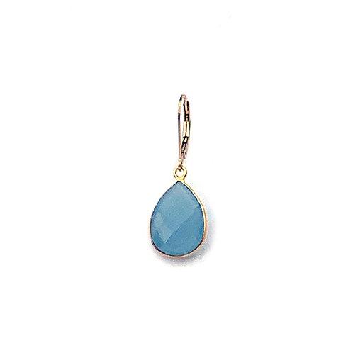 Blue Chalcedony dormeuse earrings