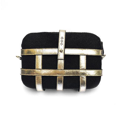 CAGE BAG black hemp - Piñatex