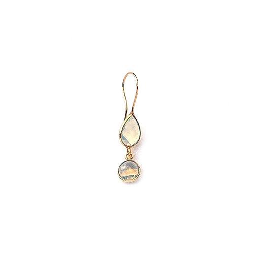 boucles d'oreille avec deux pierres en opaline