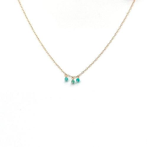collier ras-du-cou avec 3 pendentifs en amazonite
