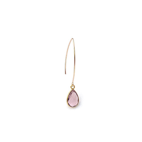 boucles d'oreille en morganite