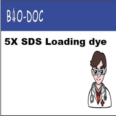 5X SDS Loading dye