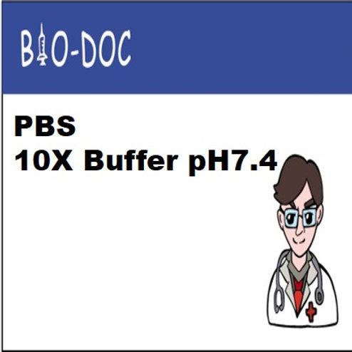 PBS 10X Buffer pH7.4