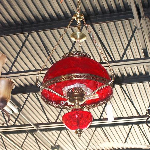 Red Globe Chandelier