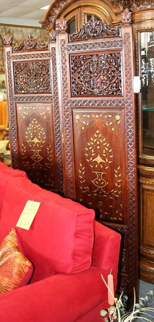 Antique Wood Room Divider