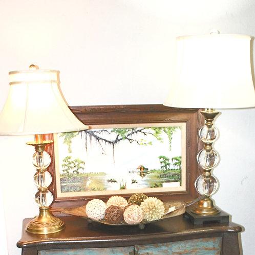 Crystal Ball Lamps Set of 2