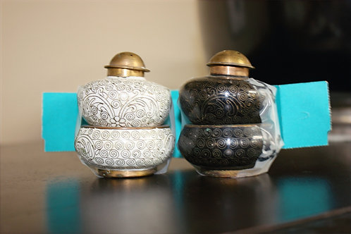 Cloisonne Salt & Pepper Shaker Set