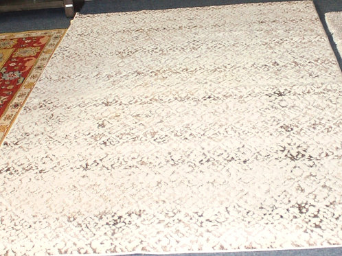 6' x 8' White/Gray/Brown Rug