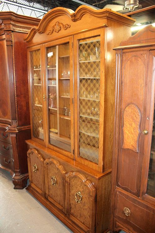 Large Wood China Cabinet