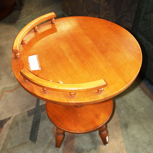 Round Maple Side Table