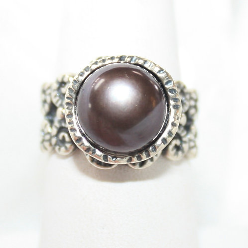 Gray Pearl Ring