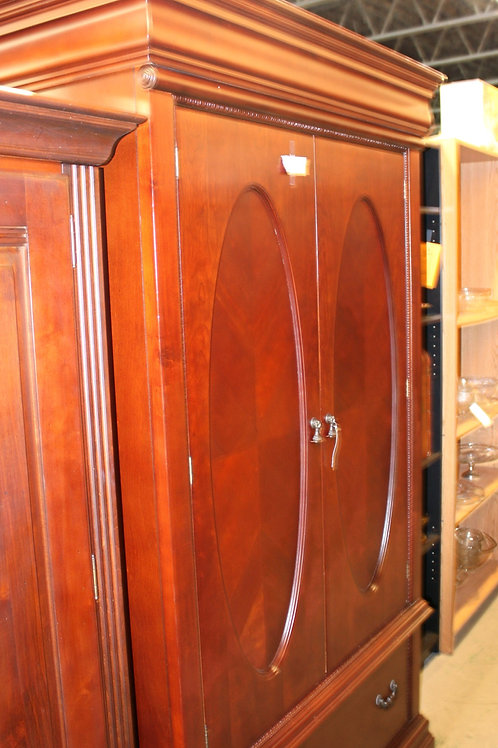 Cherry Armoire Oval Doors with Drawer