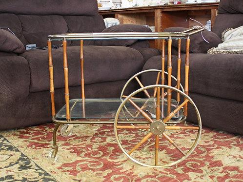 Glass Top Bar Cart