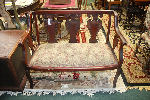 Antique Padded Bench