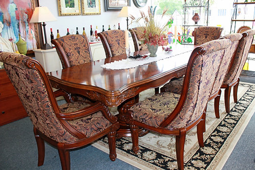 Elegant Dining Table with 8 Chairs