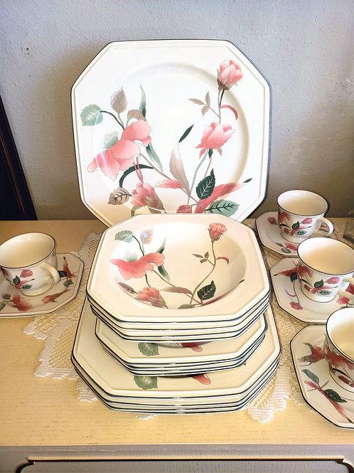 8pc Mikasa Silk Flower Table Setting
