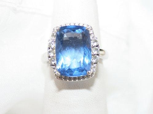 CZ Blue Topaz Ring