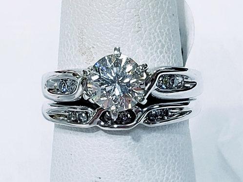 1ct 14K Solitare Diamond Ring & Wedding Band
