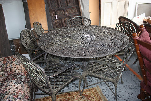 Aluminum Table & 6 Chairs