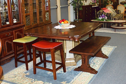 Kitchen Table Bench & 4 Stools