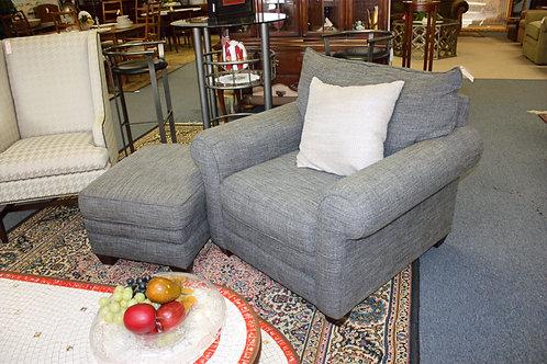 Gray Chair & Ottoman