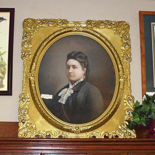 Large Gold Framed Lady