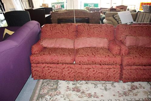 Burgundy Sofa & Love Seat