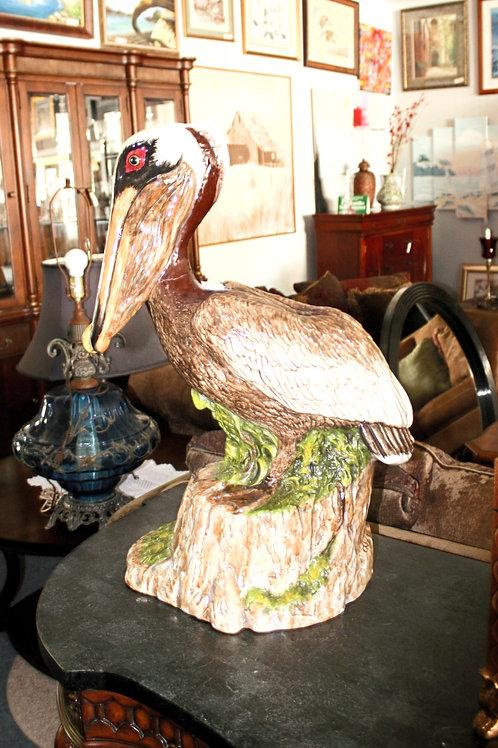 Ceramic Pelican Statue