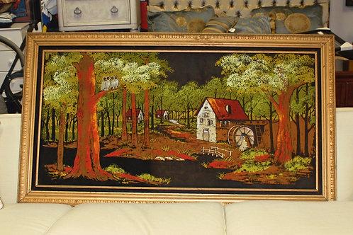Mid Century Modern Wood Art