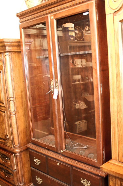 Wood & Glass Gun Cabinet