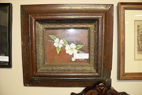 White Flowers on Stem Painting