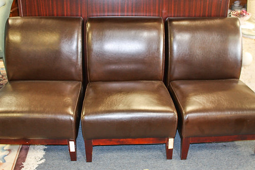 Oversized Brown Leather Chair