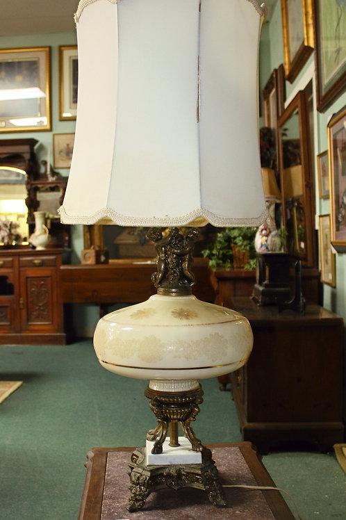 Mid-Century Tan Lamp