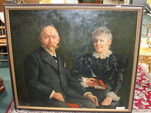 49 x 43 Antique #19 Belgium Couple