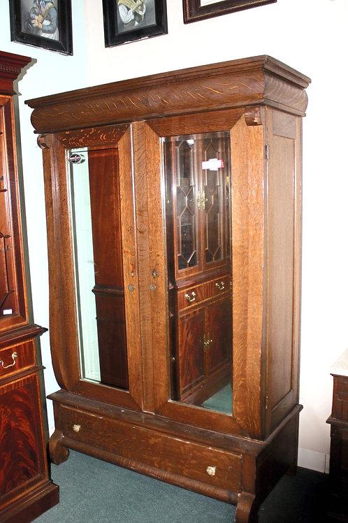 Mirror Oak Armoire