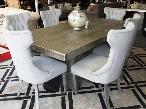 Set of 6 Gray Chairs (table sold separately)