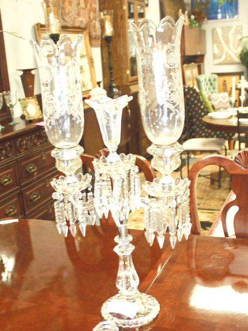 Crystal Candelabra with 2 Globes