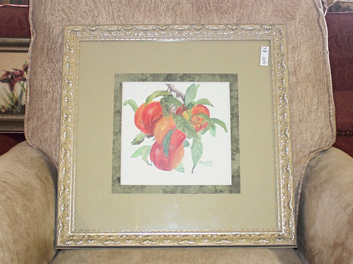 Framed Peaches Picture