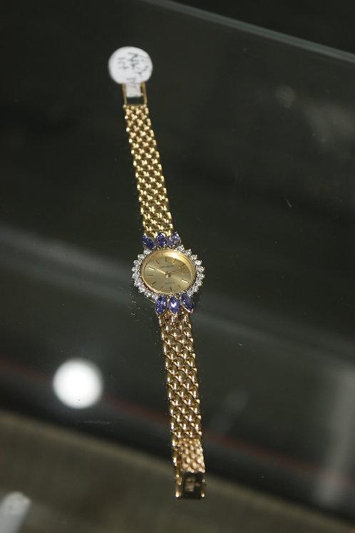 14kt Gold 1ct Diamond & Tanzanite 14 pw