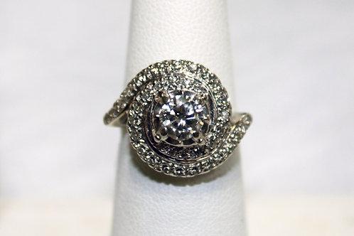 1920's 14kt Gold .75 ct Center Diamond 1.3cttw