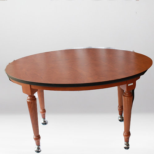 Rolling Oval Wood Table
