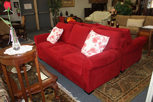 H. M. Richards Red Sofa