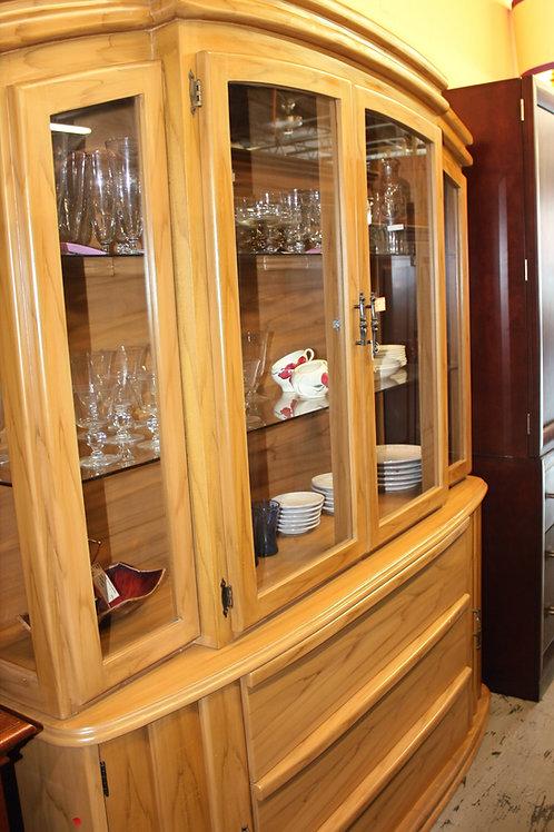 Modern Wood Glass China Cabinet