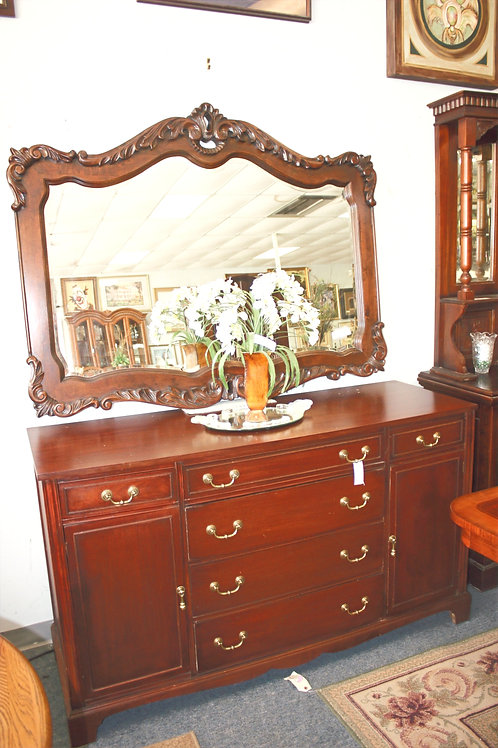 Antique Mahogany Buffet c1950 (mirror sold separate)