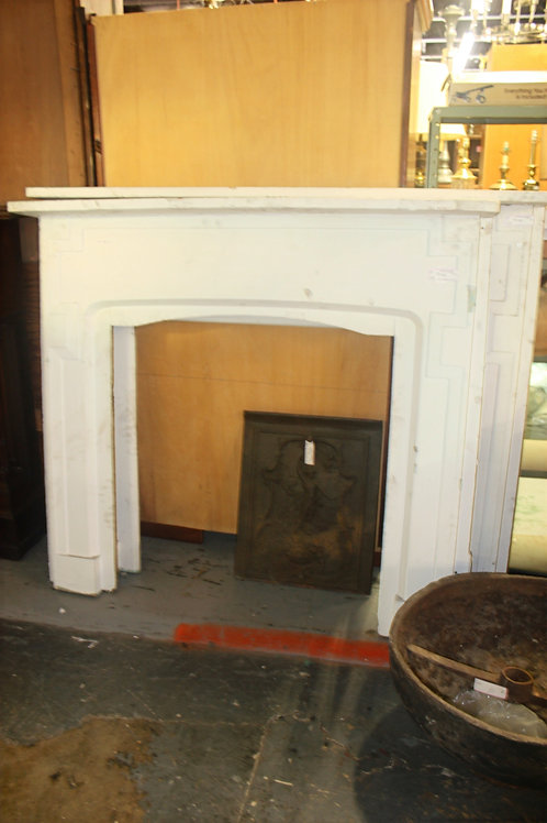 Antique White Fireplace Mantle