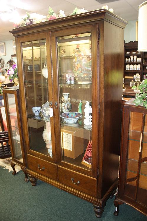Antique Glass Front Bookcase
