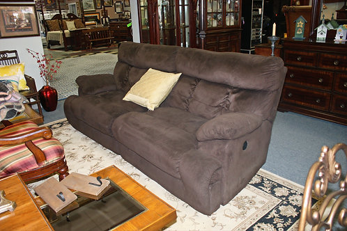 Electric Brown Sofa & Loveseat