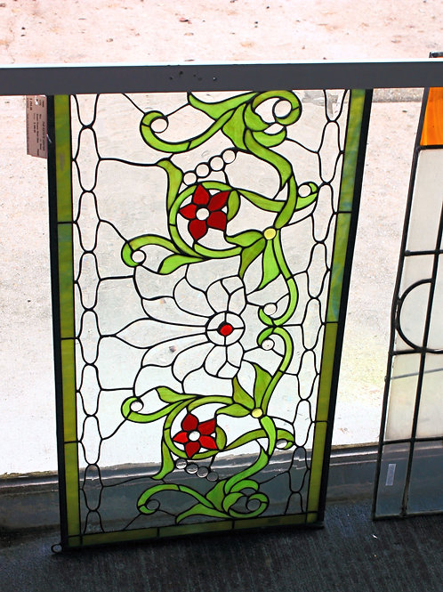 Stained Glass Red & Green